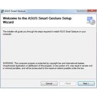 Asus Smart Gesture Driver для Win10 - Скриншоты