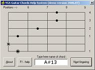 YGS Guitar Chords Help System (303 аккорда) скачать